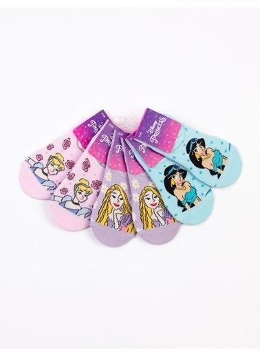 Prenses  Prenses Lisanslı 6 Çift  Çocuk Sneakers Çorap 18211 Pembe
